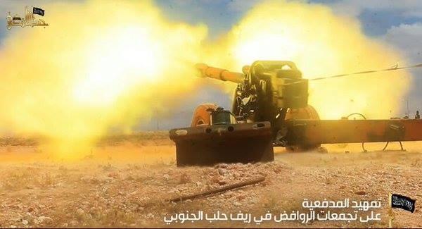 Nhóm khủng bố Jund Al-Aqsa (Al-Qaeda Syria) pháo kích vào trận địa quân đội Syria.