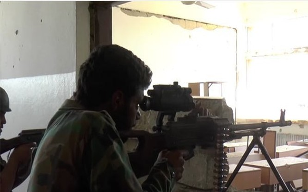 Binh sĩ Syria chiến đấu trên chiến trường (ảnh minh họa)