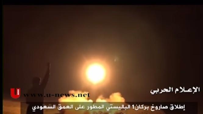 Tên lửa đạn đạo Qahir-1 bắn từ lãnh thổ Yemen vào Ả rập Xê út