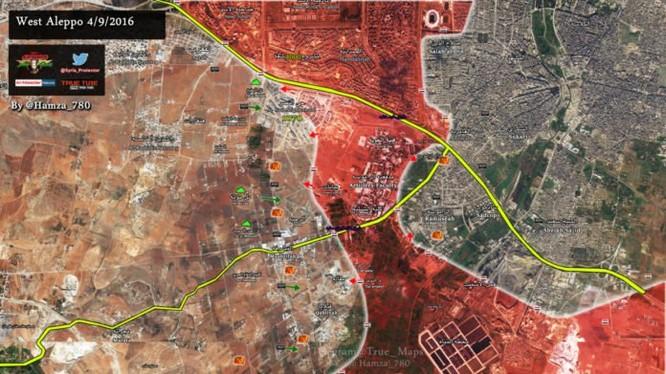 Bản đồ chiến sự thành phố Aleppo ngày 04.09.2016