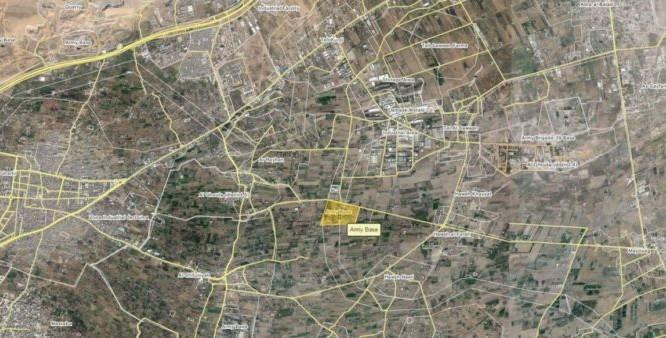 Bản đồ địa điểm quân đội Syria tấn công ở Đông Ghouta