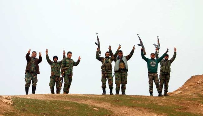 Binh sĩ quân đội Syria ở Hama