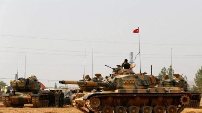 Xe tăng Thổ Nhĩ Kỳ trên địa bàn tỉnh Aleppo