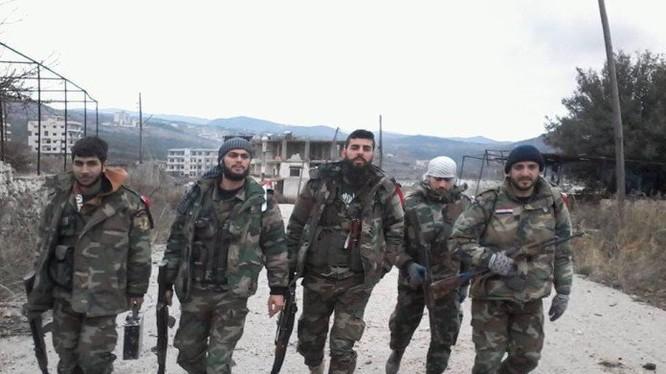 Binh sĩ quân đội Syria trên địa bàn tình Latakia