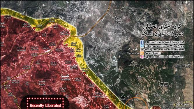 Bản đồ chiến tuyến Latakia