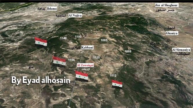 Bản đồ khu vực chiến sự Kabbani