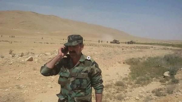 Chuẩn tướng Osama Zahreddine trên chiến trường