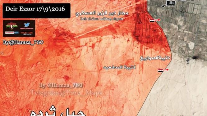 Bản đồ chiến sự Deir ez Zor tính đến ngày 17.08.2016