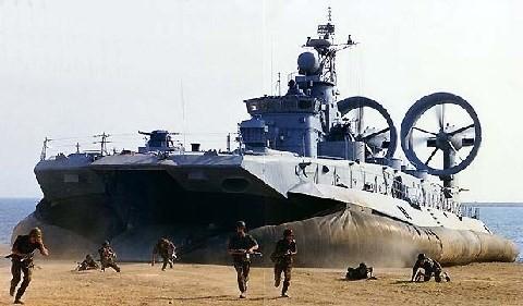 Hải quân đánh bộ Nga đổ bộ đường biển