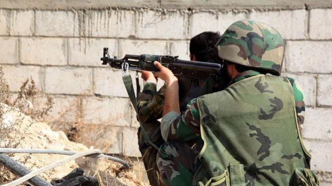 Binh sĩ quân đội Syria chiến đấu (ảnh minh họa)