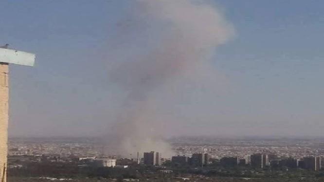 Vụ nổ tên lửa trong thị trấn Jobar