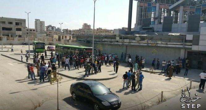 Các chiến binh Hồi giáo cực đoan di tản khỏi thành phố Homs