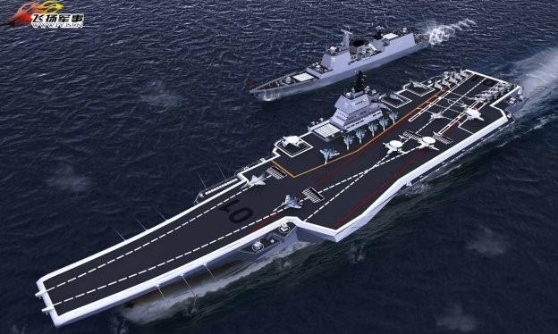 Mô phỏng 3D mẫu tàu sân bay CV - 17 của Trung Quốc