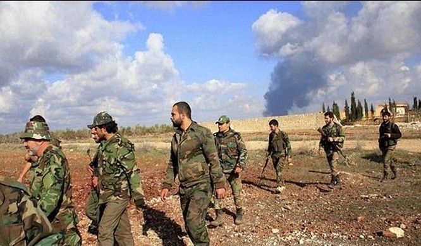 Binh sĩ quân đội Syria trên chiến trường Golan