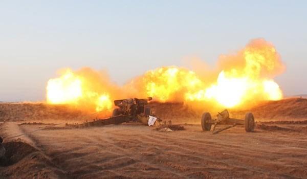 Pháo binh quân đội Syria dội hỏa lực vào lực lượng chiến binh thánh chiến