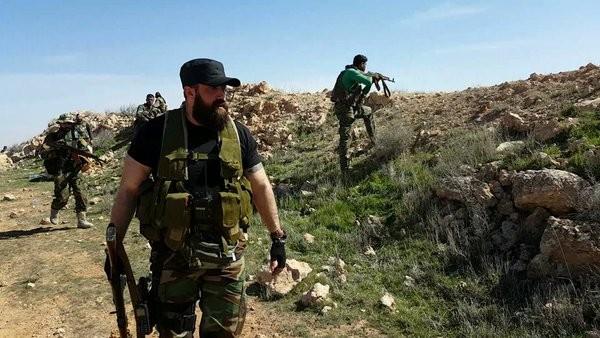 Các binh sĩ lực lượng quân tình nguyên Palestine