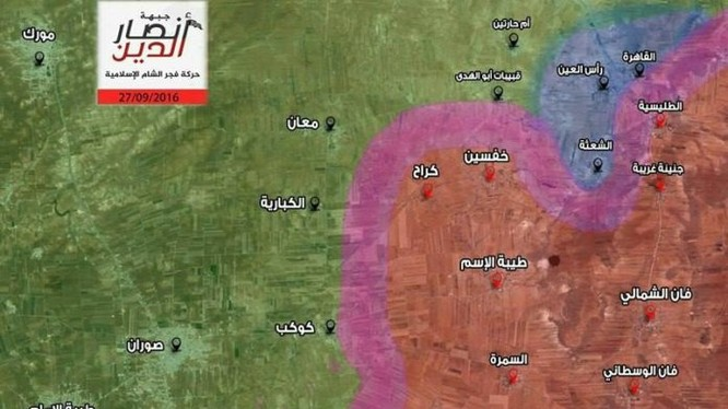 Bản đồ chiến sự tỉnh Hama