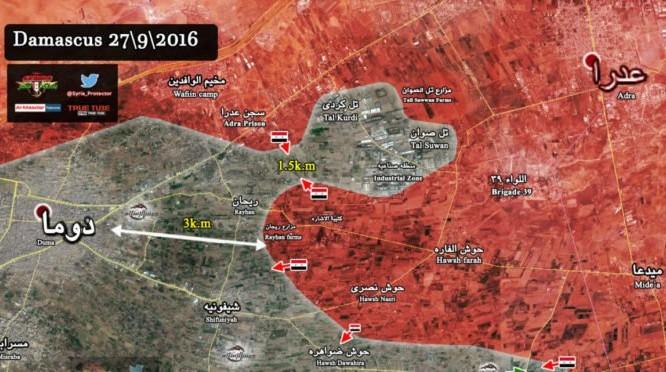 Bản đồ chiến sự Đông Ghouta