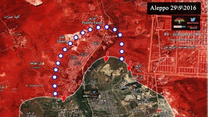 Bản đồ chiến sự chiến trường Aleppo