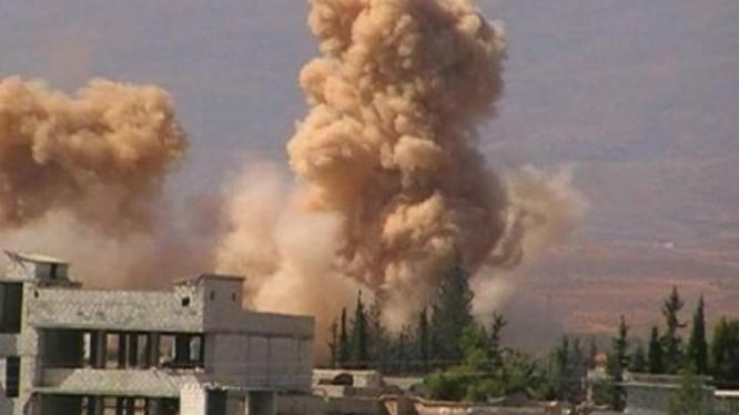 Không quân Syria ném bom vào khu vực trận địa lực lượng Hồi giáo cực đoan ở Khan Al Shih