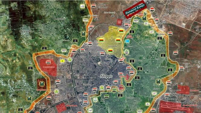 Bản đồ chiến sự thành phố Aleppo