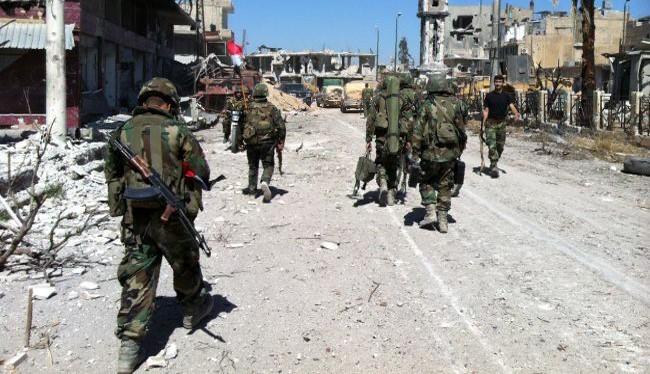 Binh sĩ Quân đội Syria tấn công ở Aleppo