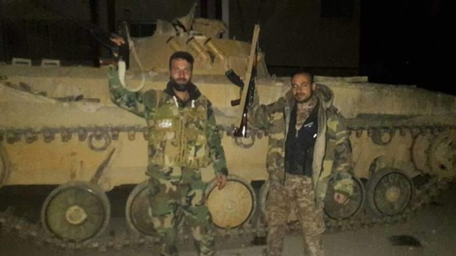 Binh sĩ Syria tiến vào thị trấn Al-Hamah thuộc vùng ngoại ô Damascus