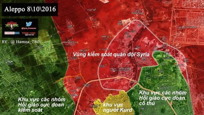 Bản đồ tình hình chiến sự thành phố Aleppo