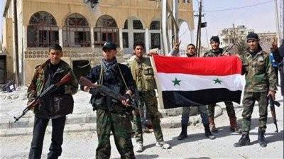 Các binh sĩ quân đội Syria trên vùng Tây Ghouta