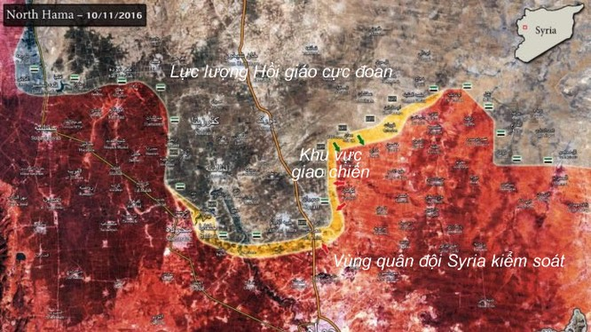 bản đồ chiến sự chiến trường Hama