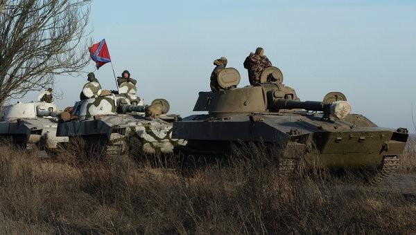 Lực lượng thiết giáp Donetsk sẵn sàng chiến đấu