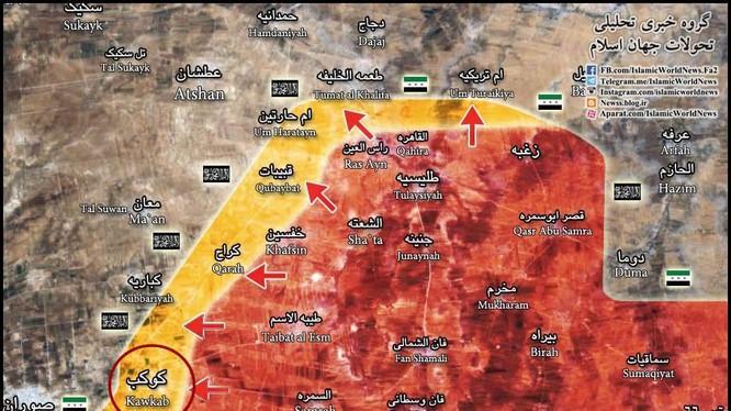 Bản đồ chiến sự vùng Đông Bắc tỉnh Hama