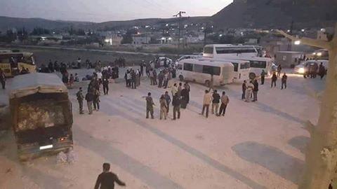 Chiến binh Hồi giáo cực đoan bắt đầu di tản khỏi vùng ngoại ô Damascus