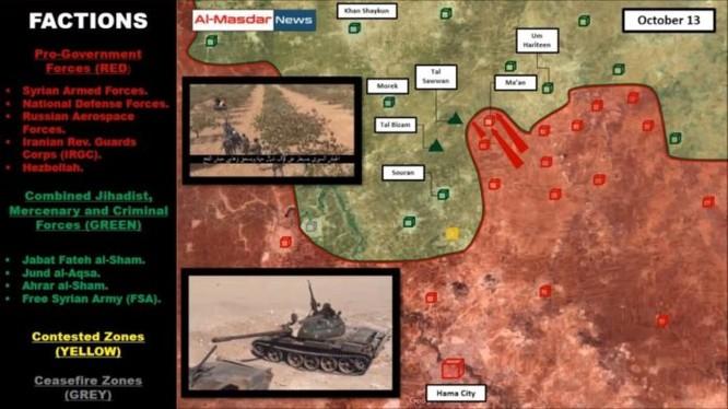 Tổng quan chiến trường miền Bắc tỉnh Hama (video)