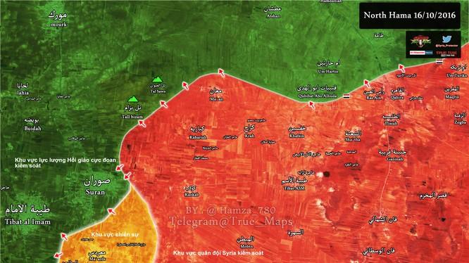 Bản đồ tình hình chiến sự tỉnh Hama