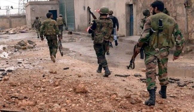 Các binh sĩ Syria kiểm soát một khu dân cư được giải phóng khỏi lực lượng Hồi giáo cực đoan