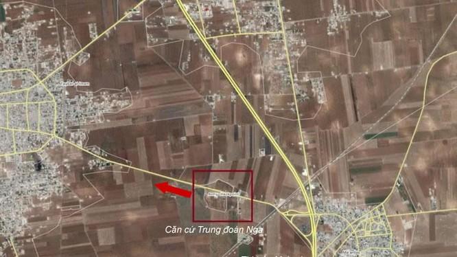 Bản đồ chiến sự vùng nông thôn miền Bắc tỉnh Hama