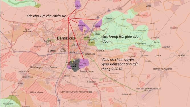 Tổng quan tình hình chiến sự khu vực tỉnh Damascus