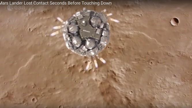 Tàu vũ trụ Shiaparelli đổ bộ sao Hỏa