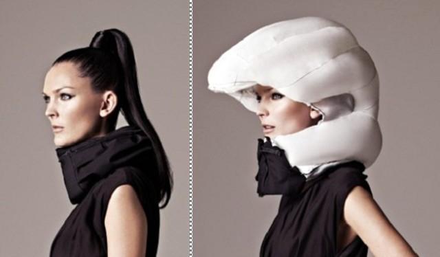 Mũ túi khí bảo vệ người lái xe