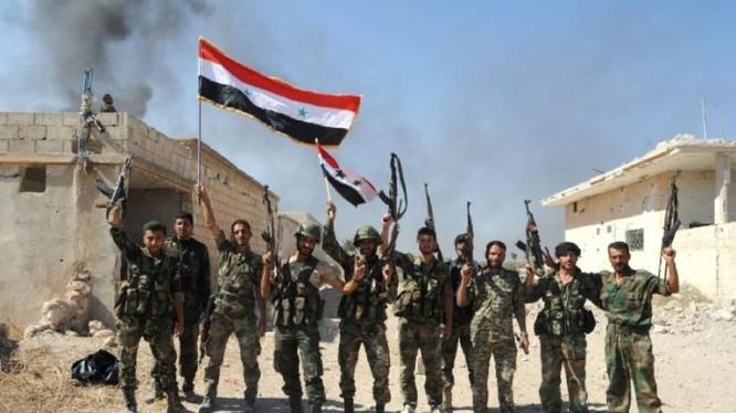 Binh sĩ quân đội Syria trên địa bàn tỉnh Hama