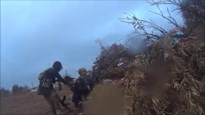 Nhóm chiến binh IS trong trận chiến ở Raqqa