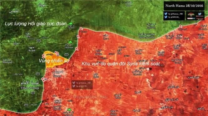 Bản đồ khu vực chiến sự thị trấn Hama
