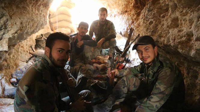 Những binh sĩ đặc nhiệm quân đội Syria ở Aleppo