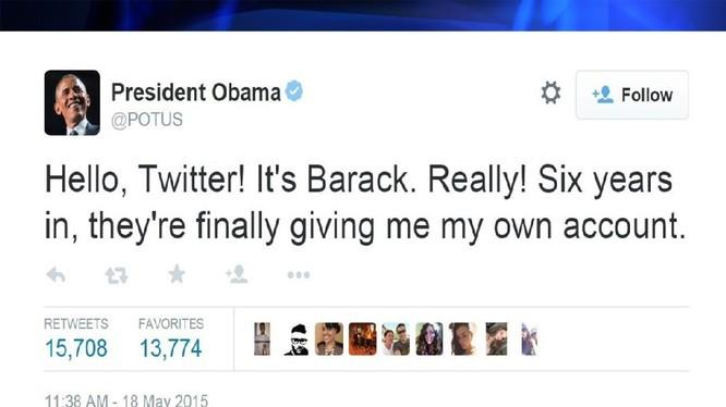 account@POTUS của tổng thống Barack Obama