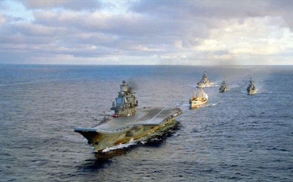 Cụm tàu sân bay tấn công chủ lực Nga tiến vào Địa Trung Hải