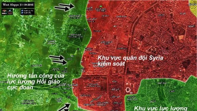Bản đồ chiến sự vùng Tây Aleppo