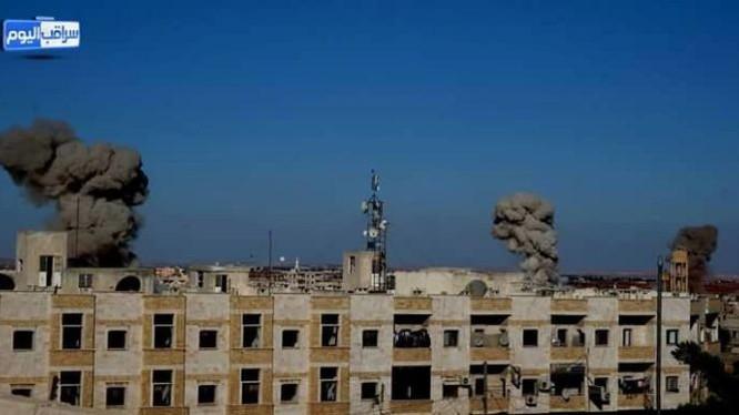 Không quân Syria không kích trên địa bàn tỉnh Hama
