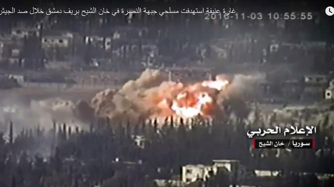 Quân đội Syria tập kích hỏa lực lực lượng Hồi giáo cực đoan ở Tây Ghouta