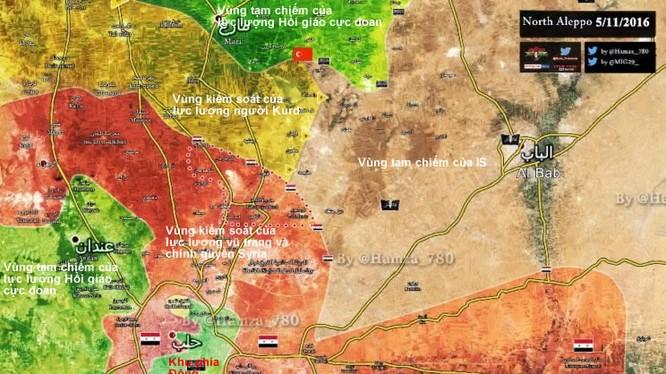 Tỏng quan tình hình khu vực chiến trường thành phố Aleppo